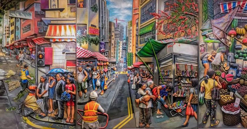 "<a href=""https://www.flickr.com/photos/mark_lehmkuhler/30522585684/"">Painted bas relief mural at Hong Kong's Sai Ying Pun MTR station | © Mark Lehmkuhler/Flickr</a>"