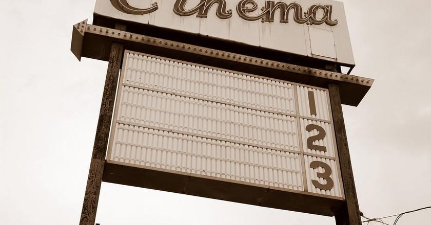 Cinema sign   © Steve Snodgrass