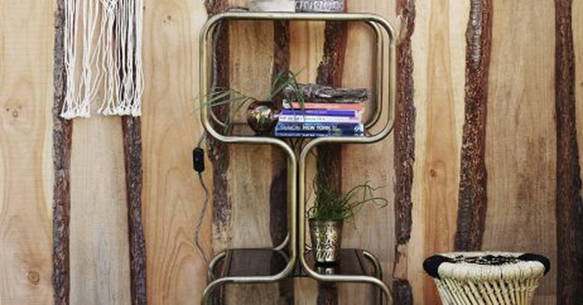 Antique Brass Shelf Unit by MadamStoltz   © ARBOL House