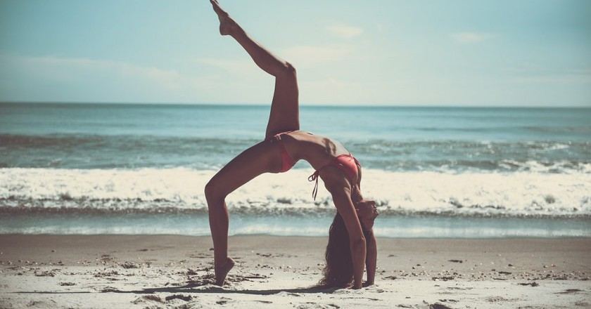 Beach yoga © Pixabay