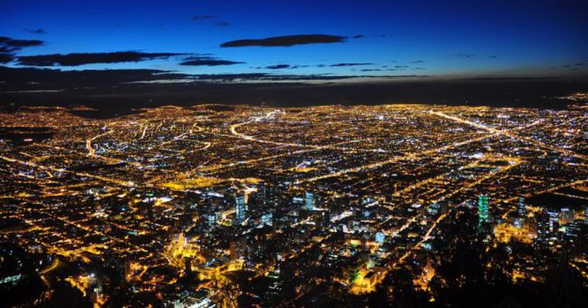 """<a href=""""https://www.flickr.com/photos/41894197861@N01/4258558080"""" target=""""_blank"""" rel=""""noopener noreferrer"""">Bogota at night   © Jorge Díaz / Flickr</a>"""