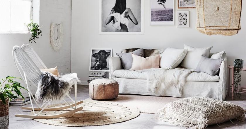 Boho Luxe Living Room   © norsu interiors