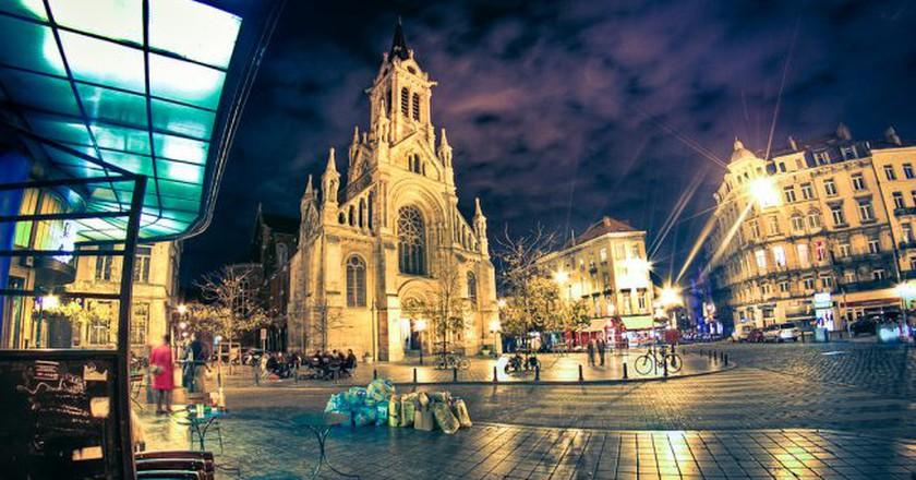 Brussels' Saint Gilles neighborhood at night | © Arcadius / Flickr