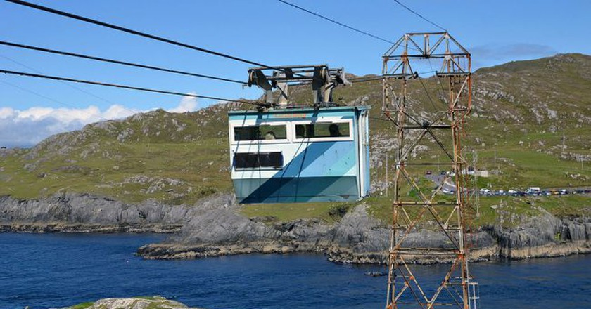 Cable car connecting the Beara Peninsula and Dursey in West Cork | © K. Jähne/WikiCommons