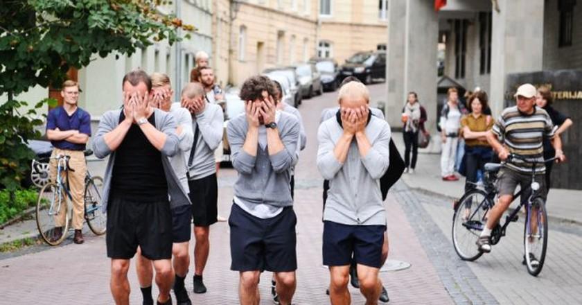 Egl Budvytyt, Choreography for the Running Male, Mindaugas Triennial, 11th Baltic Triennial of International Art, 2012 | Photo Ieva Budžeikait_