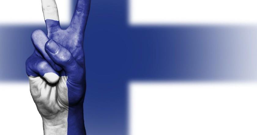 "<a href = ""https://pixabay.com/en/finland-peace-hand-nation-2131192/""> Finland | © Public_Domain_Photography/Pixabay"