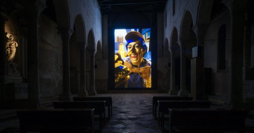 Rachel Maclean, Installation view of Spite Your Face, 2017 | Courtesy Scotland + Venice. Photo Patrick Rafferty