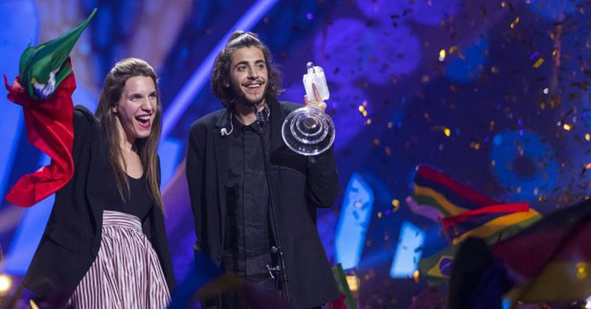Salvador Sobral of Portugal won this year's Eurovision | © Rolf Klatt/REX/Shutterstock