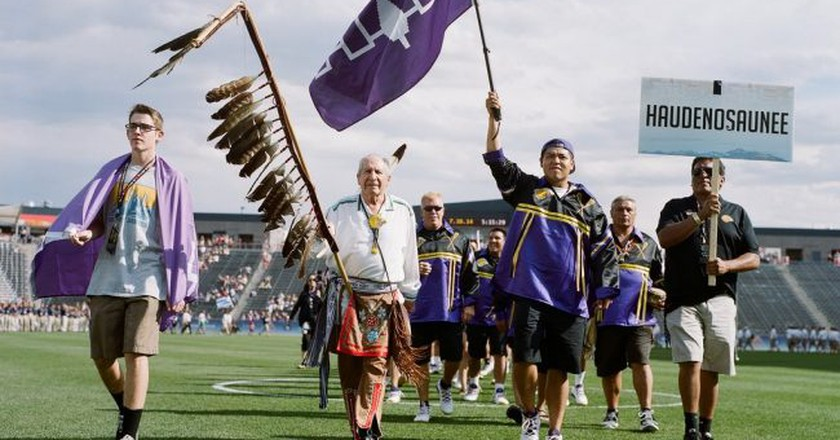 The Iroquois Nationals team was first admitted to the Federation of International Lacrosse in 1987. | © Spirit Game