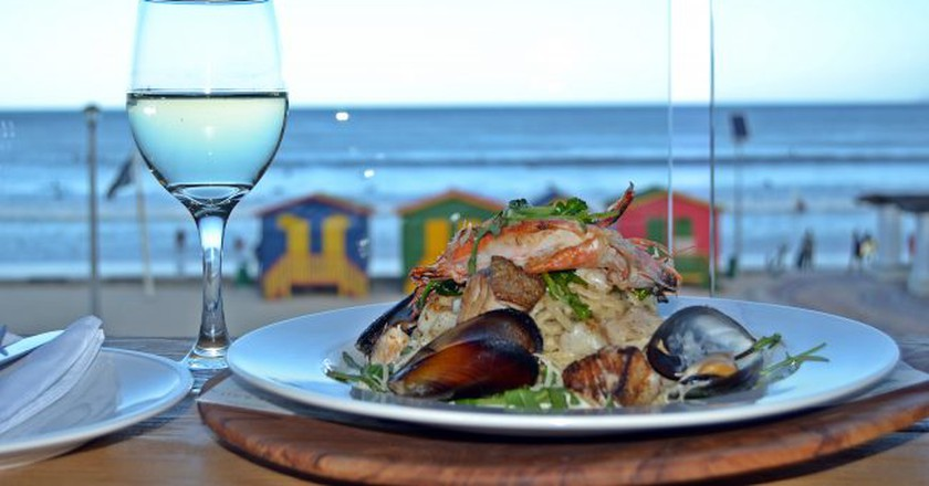 Lunch with a view at Live Bait Restaurant, Muizenberg, Cape Town © Courtesy of Harbour House Group