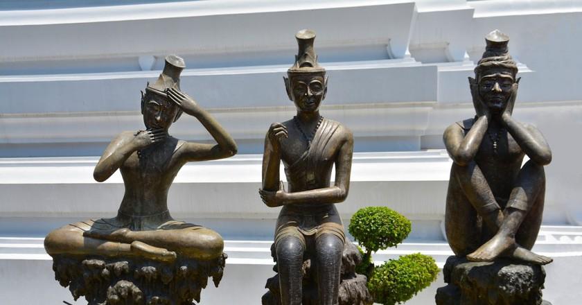 Thai Yoga Statues | © terimakasih0 / Pixabay