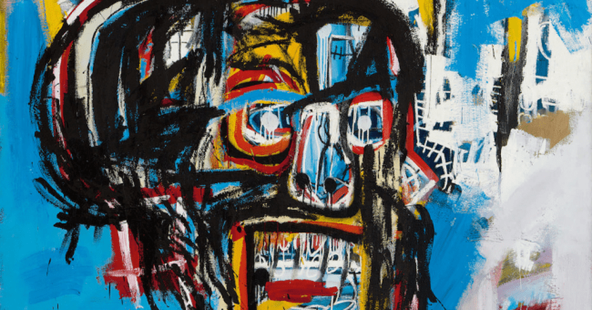 "Jean Michel-Basquiat, ""Untitled"" (detail), Acrylic, spray paint and oilstick on canvas 
