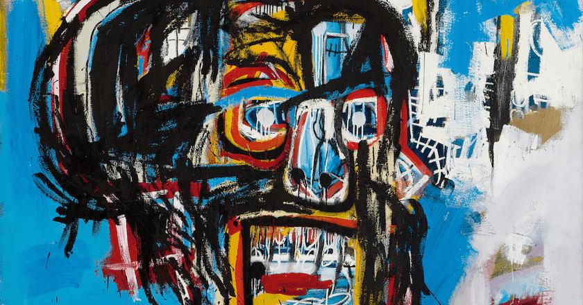 "Jean Michel-Basquiat, ""Untitled"" (detail), Acrylic, spray paint and oilstick on canvas | © 2017 The Estate of Jean-Michel Basquiat / ADAGP, Paris / ARS"