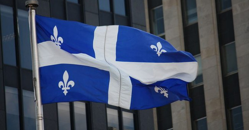 The Fleurdelisé, the flag of the province of Quebec   ©Makaristos / WikiCommons