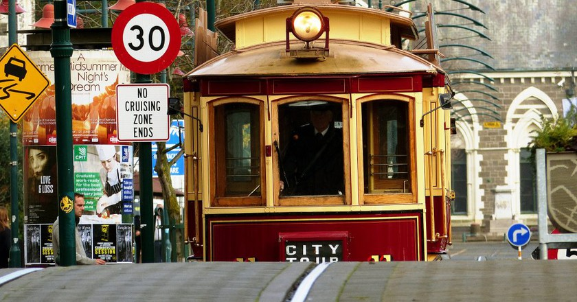 Approaching Tram in Christchurch   © Bernard Spragg/Flickr