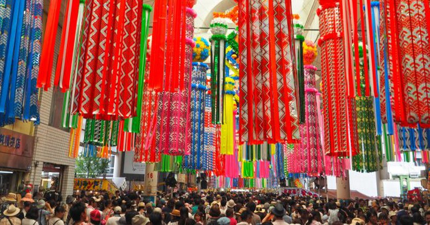 Decorative streamers for Tanabata | © T.Kiya/Flickr