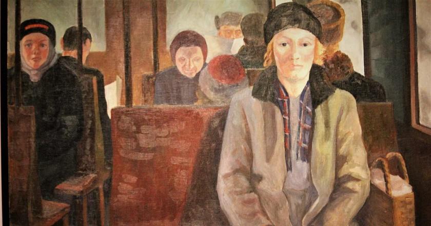 "Eva Törnwall-Colling ""in a Railway Carriage""/ Ilkka Jukarainen/ Flickr"