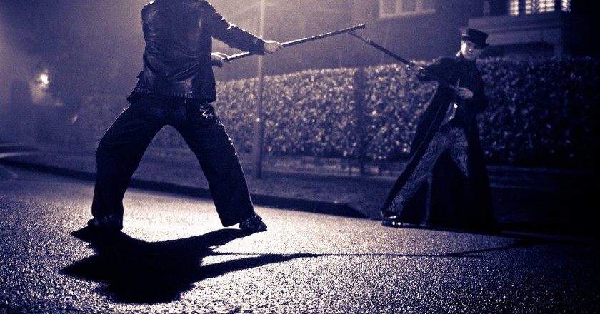 "<a href=""https://www.flickr.com/photos/poolski/5413059808/"" target=""_blank"" rel=""noopener noreferrer"">Challenged to a duel   © poolski / Flickr</a>"