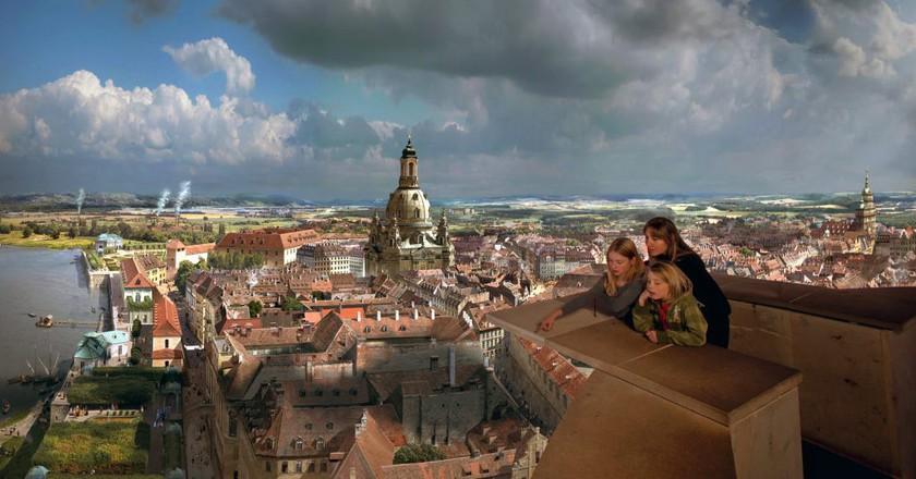 Panometer of baroque Dresden | © asisi
