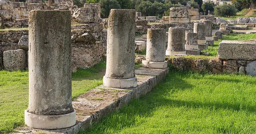Columns of the Pompeion in the Kerameikos, Athens, Greece | ©Jebulon/WikiCommons