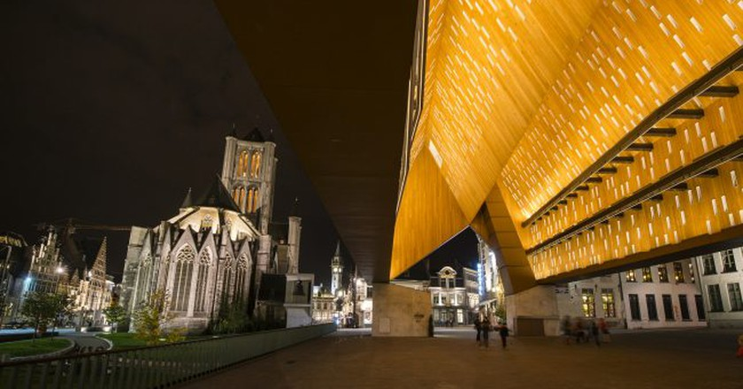 Ghent's St. Bavo's Cathedral and City Pavilion | Courtesy of Visit Ghent