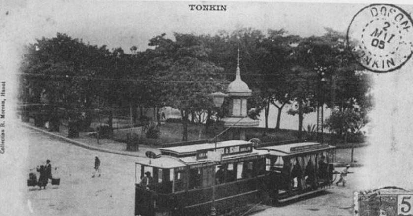 Hanoi tramway in 1901 | © Wiki Commons