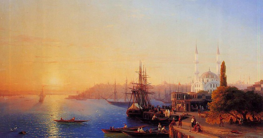 Panorama of Constantinople (1856), by Ivan Aivazovsky | ©WikiCommons
