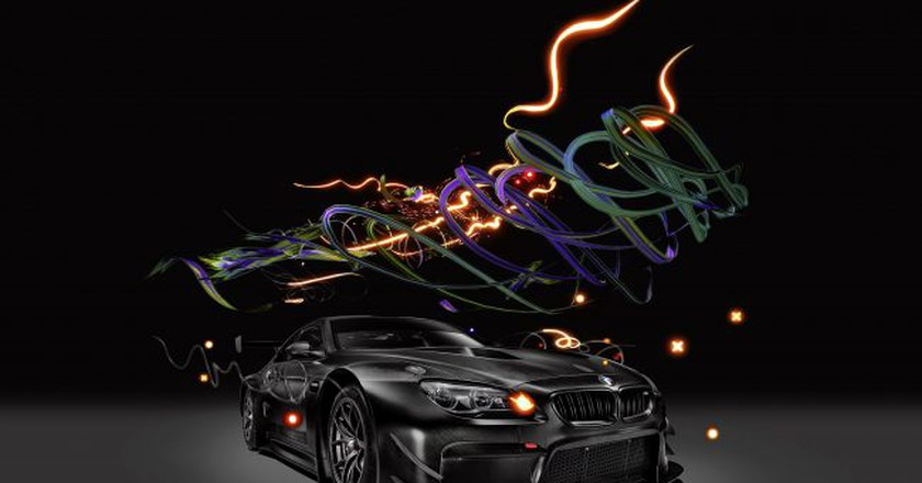 Cao Fei, BMW Art Car #18 (detail, still). Augmented Reality   © BMW AG and Cao Fei Studio.
