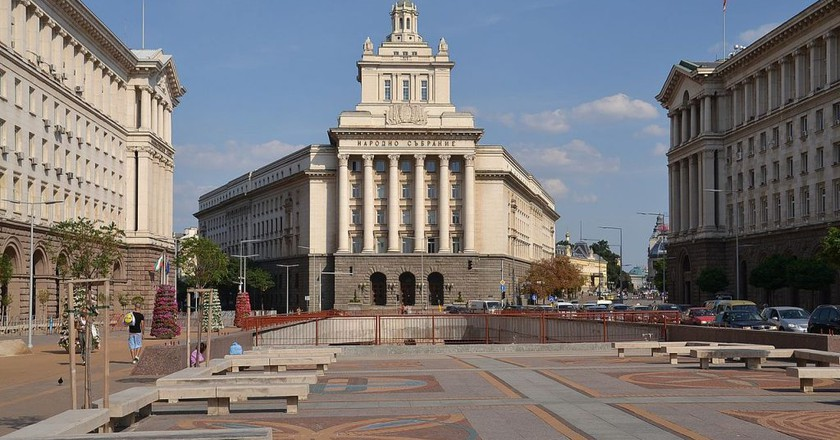 The ex-building of the Party, Sofia   ©  Pudelek/WikiCommons