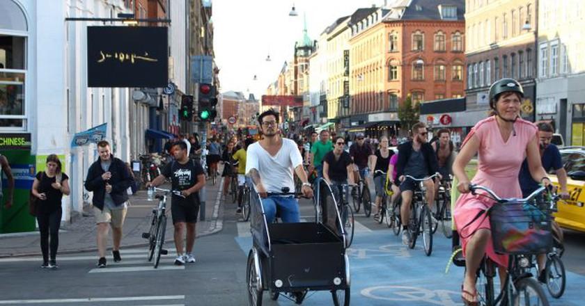 Bike traffic at Nørrebrogade | © Aliki Seferou