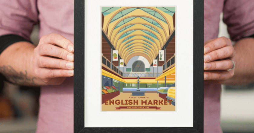 Vintage-style print of the English Market by The Canvasworks | Courtesy of The Canvasworks