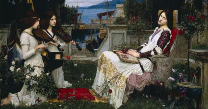 John William Waterhouse, 'Saint Cecilia' (1895)   Wikimedia Commons