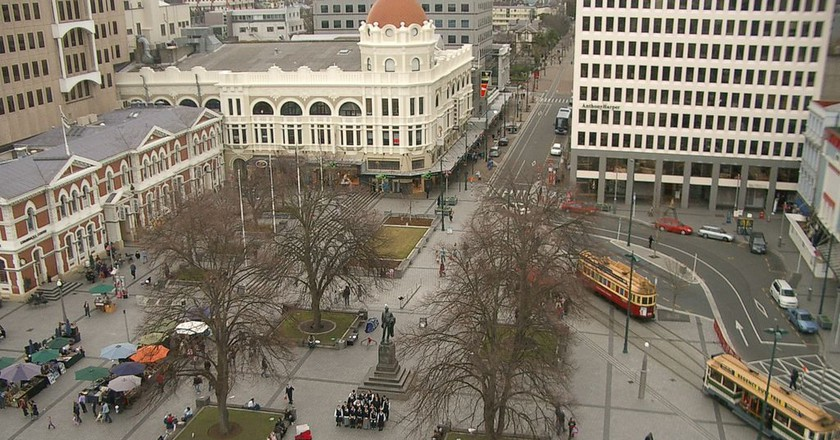 View of Cathedral Square from the Christ Church Cathedral in 2006   © Timsdad/Wikimedia Commons