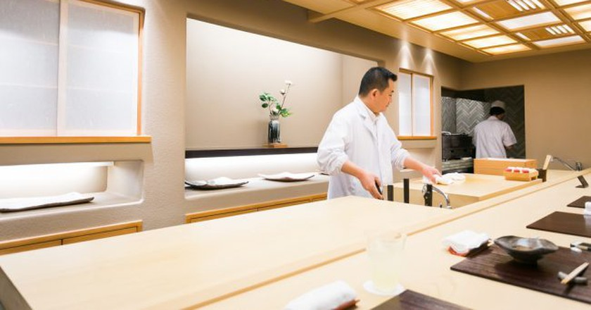 Inside Ginza Kojyu kaiseki restaurant, Tokyo | © City Foodsters/Flickr