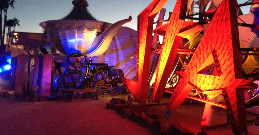The Neon Museum at night