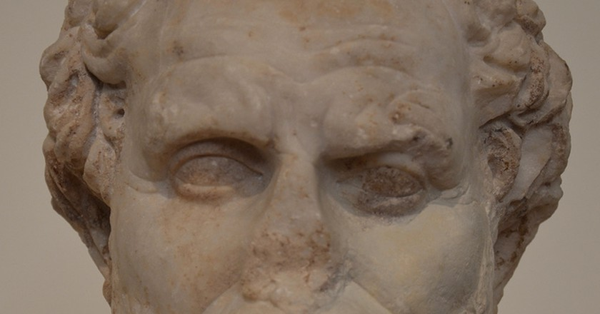 Portrait head of Athenian orator Demosthenes, Demosthenes, liturgist several times and one of the main sources on the liturgy | ©  Carole Raddato/Flickr