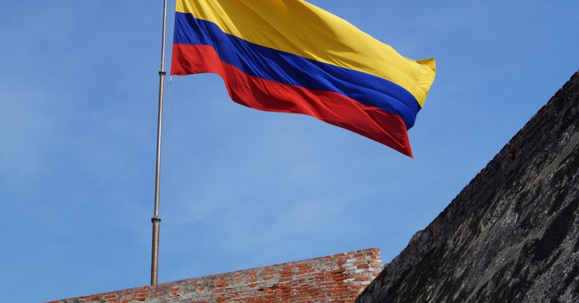 Colombian flag   © Niek van Son/Flickr