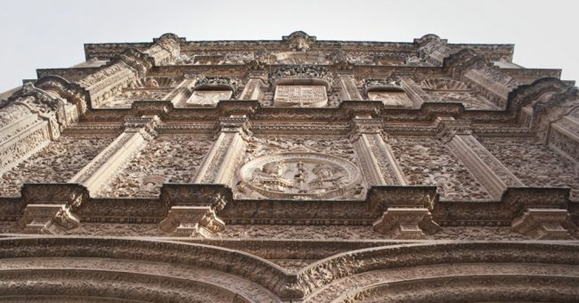 Intricate stone carvings on the facade of Salamanca University   © Ramoncutanda/Flickr