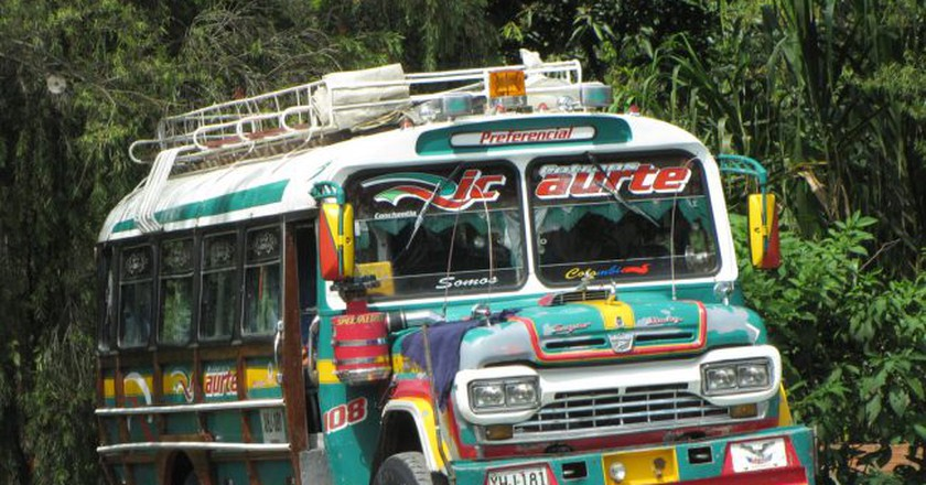 Colombian chiva bus