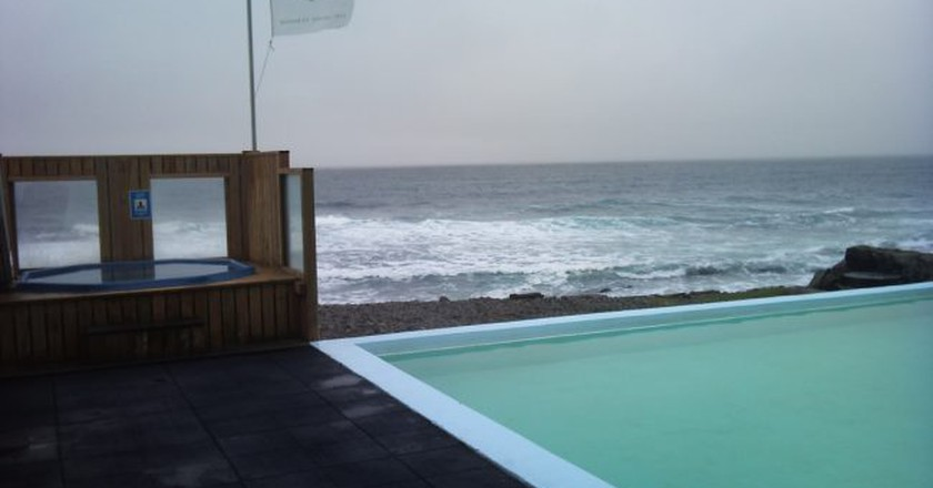"""<a href = """"https://www.flickr.com/photos/xperia2day/6147274901/in/photolist-hPh5NE-andoEi-hPgnse""""> The swimming pool in Krossnes 