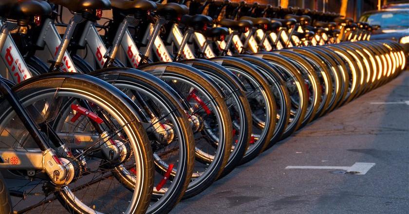 BIXI rental bikes in Montreal   ©  Mike/ Flickr