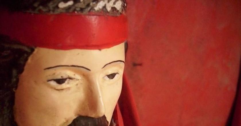 The popular mustachioed image of Gauchito Gil   © Camilo Kawerín/Flickr