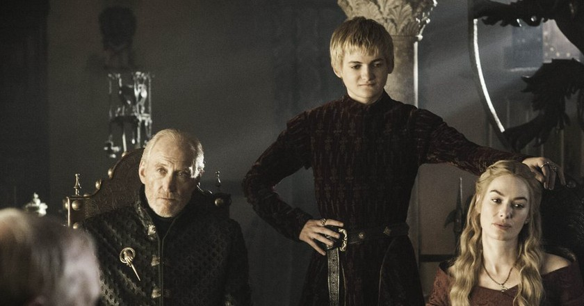 Game Of Thrones  Charles Dance as Tywin Lannister; Jack Gleeson as Joffrey Baratheon;; Lena Headey as Cersei Lannister  © HBO Enterprises