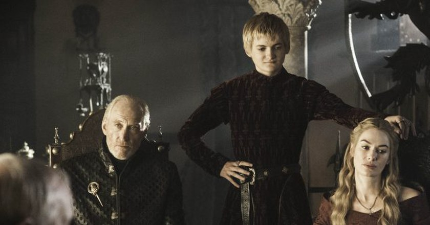 Game Of Thrones  Charles Dance as Tywin Lannister; Jack Gleeson as Joffrey Baratheon;; Lena Headey as Cersei Lannister  © HBO Enterprises