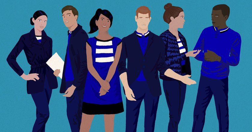 Illustrations of Joon's 'chic' and 'basic' cabin crew uniform | Courtesy of Joon