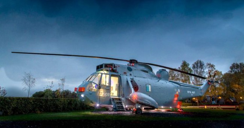 Courtesy of Helicopter Glamping