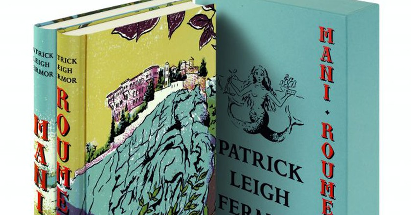 The Folio Society's new editions of Mani and Roumeli, written by Patrick Leigh Fermor, and illustrated by Katyuli Lloyd | Courtesy of The Folio Society