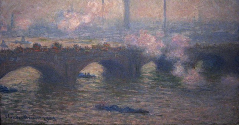 'Waterloo Bridge, Gray Day' (1903) by Claude Monet | Chester Dale Collection/Wikimedia Commons