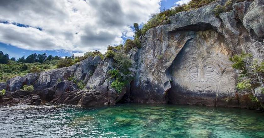 Mine Bay Maori Carvings, Lake Taupo | © holgerheinze0/Pixabay