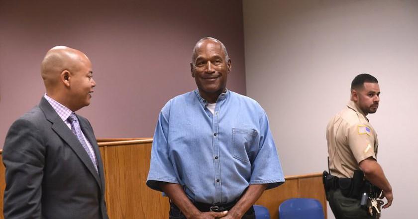 O.J. Simpson has been granted parole following a nine-year prison sentence for robbery.   © Jason Bean/Reno Gazette-Journal/REX/Shutterstock